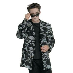 Men's Skull & Crossbones Sport Jacket Costume